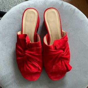 Chinese Laundry Red Knot Slides